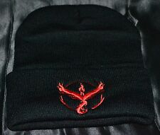 Moltres Team Flare Beanie Beenie Pokemon Trainer Go Hat Cap Teens To Adults Red