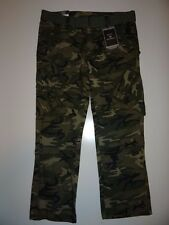Royal Men's Army Combat Uniform 100% Cotton Straight Fit Cargo Pants Sz 36/32