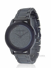 NEW WOMENS MICHAEL KORS (MK6246) KINLEY PAVE GLITZ SWAROVSKI BLUE WATCH