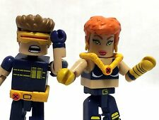 "Minimates Marvel Ultimate X-Men Cyclops & Jean Grey 2.25"" Miniature Figures"