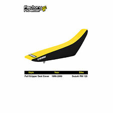 1996-1998 SUZUKI RM 250 Black/Yellow FULL GRIPPER SEAT COVER BY Enjoy MFG