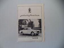advertising Pubblicità 1960 COUPE' FIAT 1500 PININFARINA