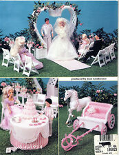 """""""FAIRY TALE WEDDING""""~Plastic Canvas PATTERN BOOK ONLY for BARBIE FASHION DOLL"""