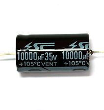 5pc Electrolytic Capacitor GHA 10000uF 35V 105℃ 2000hrs φ22x43mm Axial RoHS SC
