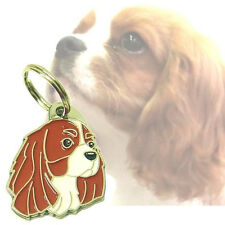 Engraved pet id tags MjavHov, Cavalier King Charles Spaniel blenheim