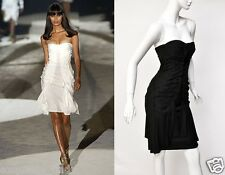 S/S 2004 TOM FORD for GUCCI STRAPLESS BLACK SILK DRESS 40