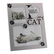 I Love My Cat alluminio metallico in finitura Photo Frame fa129c