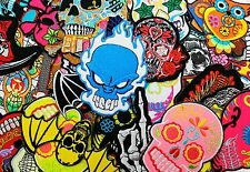 WHOLESALE Lot 50 Mexican Sugar Day of the Dead Skull Punk Biker Iron On Patch