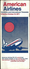 American Airlines system timetable 10/31/71 [6121]