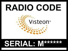 █► radio código visteon-Ford-Fiat-Mercedes - Jaguar-land rover-unlock Key