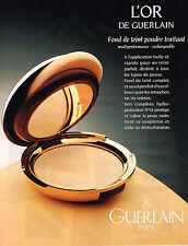 PUBLICITE ADVERTISING 045  1993   GUERLAIN  cosmétiques gamme  L'OR