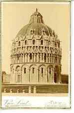 Van Lint, Italie, Pise Le baptistère Saint-Jean Vintage Print,  Tirage albumin