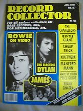 Record Collector Magazine. Issue no. 137. January 1991. Dylan, Kraftwerk, James
