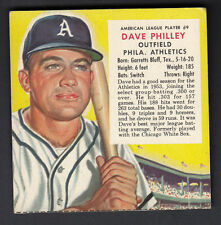 Dave Philley 1954 Red Man Tobacco Trading Card #9 Philadelphia A's No Tab EX