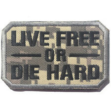 LIVE FREE OR DIE HARD USA ARMY U.S. TACTICAL BADGE MILITARY EMBROIDERY PATCH #03