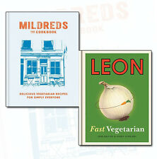 Vegetarian Cookbook Collection 2 Books Set Pack Mildreds, Leon Fast Vegen NEW