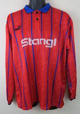 VINTAGE PUMA anni'90 MAGLIETTA da calcio retrò SOCCER JERSEY Rosso Manica Lunga Maglia Trikot XL