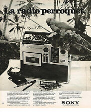 PUBLICITE ADVERTISING 074  1976  SONY  la radio transistor PERROQUET