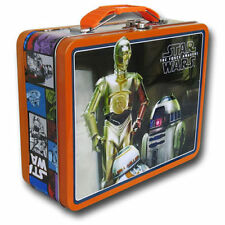Tin Metal Lunch Snack Toy Box Star Wars Force Awakens R2-D2 & C3PO NEW