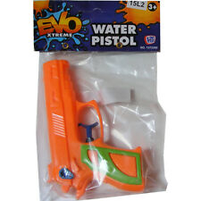 1 x CHILDRENS KIDS BOYS SMALL MINI PLASTIC WATER PISTOL GUN TOY - 13CM - ORANGE
