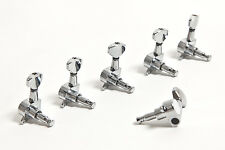 Set clavijas 6 en línea cromadas Guitarra -Set of 6 in line Chrome machine heads