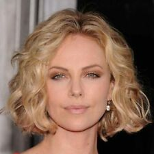 Fashion Blonde Mixed Shaggy Curly Synthetic Ladylike Short Wig Hair For Women