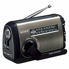New!! SONY HandCranked Solar Charging USB AM/FM Portable Radio ICF-B99/S Japan