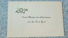 Antique Good Wishes for Christmas & New Year Card