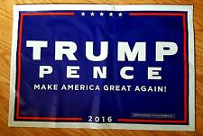 Donald Trump & Mike Pence official yard sign 2 sided all weather $1 shipping
