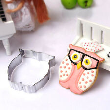 Durable Stainless Steel Cake Cookie Cutters Owl Biscuit Mold DIY Decorating