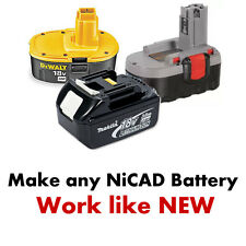 Battery Fix Nicad Bosch Hitachi JCB Dewalt Makita 24v 18v 14,4v 12v 9,6v Ni-CD 2