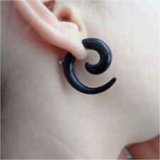 Gothic Jewelry Earrings tribal horn spiral taper spike talon goth punk men women
