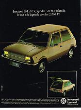 PUBLICITE ADVERTISING  1978   LEYLAND  INNOCENTI 90L