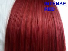 18 inch clip in hair full head 8pc straight intense red cheap hair extension