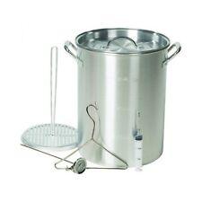 Aluminum Deep Fryer 30 qt Pot Outdoor Propane Turkey Cooker Kit Gourmet Stockpot