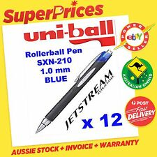 UNIBALL JETSTREAM SXN-210 x 12 BLUE PEN JETSTREAM RETRACTABLE 1mm ACID FREE INK