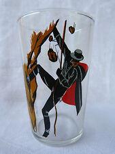 Verre publicitaire (glass) Walt Disney Production - Zorro faisant du rappel