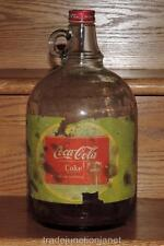 1940's ONE GALLON 1 GAL COCA-COLA DURAGLAS SYRUP JUG BOTTLE w/CAP & PAPER LABEL
