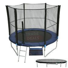 EXTRA LARGE/BIG KIDS TRAMPOLINE 8FT OUTDOOR WITH FREE COVER, LADDER, SAFETY NET