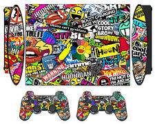 Bombing N262 Skin Sticker for PS3 PlayStation 3 Super Slim & 2 controller skins