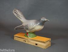 1924 RSFSR RUSSIAN ANTIQUE TOY CUCKOO BIRD PAPIER-MACHE CALL SOUND ARTEL INVALID