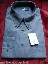VENETO CHEMISE HOMME MANCHES LONGUES bleu gris T 6 45/46 neuve & emballée