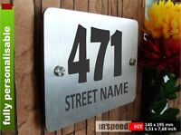 Elegant personalized house sign (#25) / plaque / plate number and street name