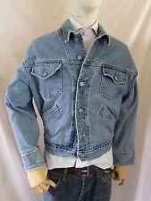 cK JEANS CALVIN KLEIN vintage 90s made USA denim rancher jean jacket SMALL