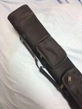 J&J Black Angora Pool Cue Case For 2 Butt 4 Shafts 2x4 W/ Free Shipping !!