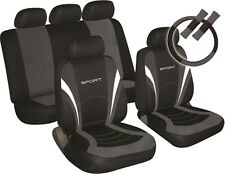 SUZUKI SWIFT Universal SPORTS Car Seat Cover Pack BLACK & GREY
