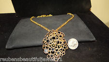 Gorgeous Massive Chunky vintage signed PANETTA Brooch necklace Haute Couture