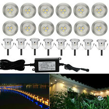20Pcs Warm White 12V 30mm Outdoor Garden Yard Path LED Deck Stair Soffit Lights