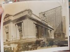 ORIG 1930s Grand Central Sta TAXI NYC New York City 7 x 9 Photo