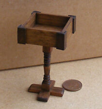 1:12 Scale Wooden Font Dolls House Miniature Church Furniture